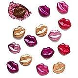Valentine Multi-color Mini Lips Solid Milk Chocolate (1/2 Lb)