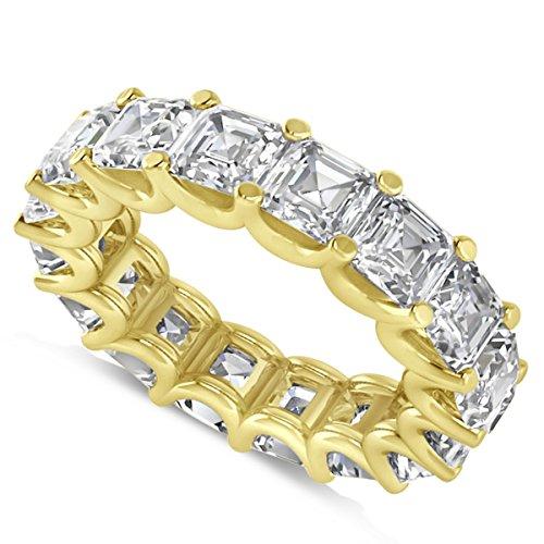 - Allurez Radiant-Cut Diamond Eternity Wedding Band Ring in 14k Yellow Gold (9.00ct)
