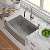 Kraus KHF200-30 30 inch Farmhouse Apron Single Bowl 16 gauge Stainless Steel Kitchen Sink