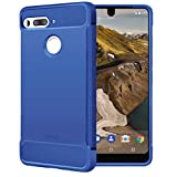 Essential Phone PH-1 Case, OEAGO Lightweight TPU Bumper Shock Absorption Cover Case for Essential Phone PH-1 - Blue