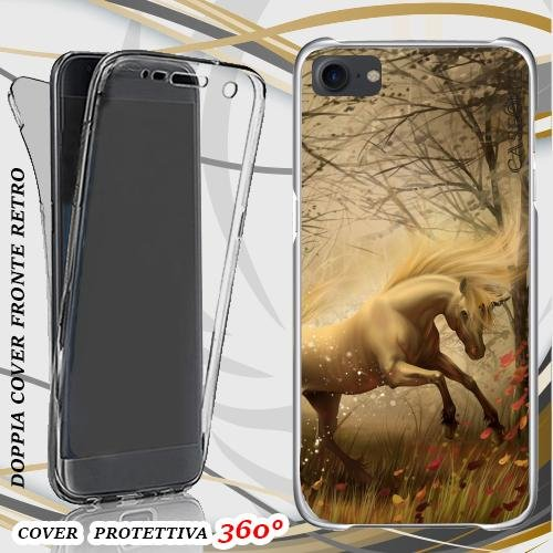CUSTODIA COVER CASE UNICORNO FATATO PER IPHONE 7 FRONT BACK