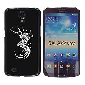 Estuche Cubierta Shell Smartphone estuche protector duro para el teléfono móvil Caso Samsung Galaxy Mega 6.3 I9200 SGH-i527 / CECELL Phone case / / dragon abstract mermaid black white