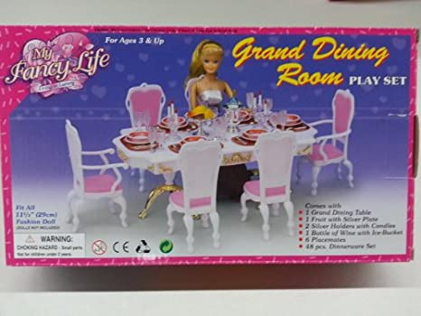 Gloria Doll Sized Grand Dining Room Furniture Accessories