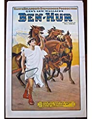 BEN HUR - ORIGINAL 1910 THEATRE POSTER - VERY RARE ROMAN ART STONEBRIDGE LITHO