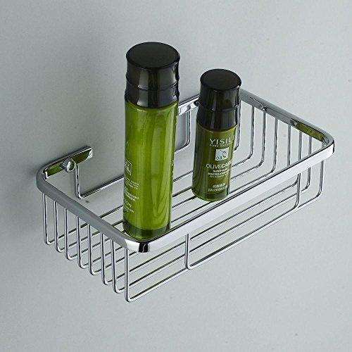 SSBY Copper racks, bathroom square storage basket, single-layer mesh cosmetics, plane angle by Bathroomracks