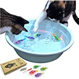 BlackHole Litter Mat Interactive Swimming Robot Fish Toy for Cat/Dog with LED Light (4 pcs), Cat & Dog Toy to Stimulate…