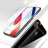 Casa iPhone Xs Max 6.5'' Screen Protector, Xs Max [Front & Back Glass Film Suit] Tempered Glass Anti-Fingerprint Case Anti-Scrath 3D HD Clear Glass Screen Film for Apple iPhone Xs Max 6.5 2018