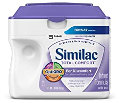 Similac Total Comfort Non-GMO Infant Formula with Iron, Powder, 22.6 Ounces (Pack of 4)