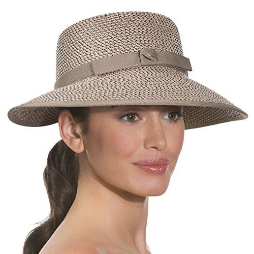Eric Javits Luxury Fashion Designer Women's Headwear Hat - Squishee Cap - Bark by Eric Javits