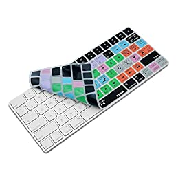 XSKN Apple Magic Keyboard Cover Functional Logic Pro X 10 Shortcut Silicone Skin Protective Film for Magic Keyboard MLA22B/A, US Layout