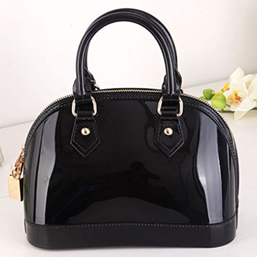 LSQtronics 2015 korean elegant candy bag-the best selling Shell type lovely handbag to accentuate your charming--black