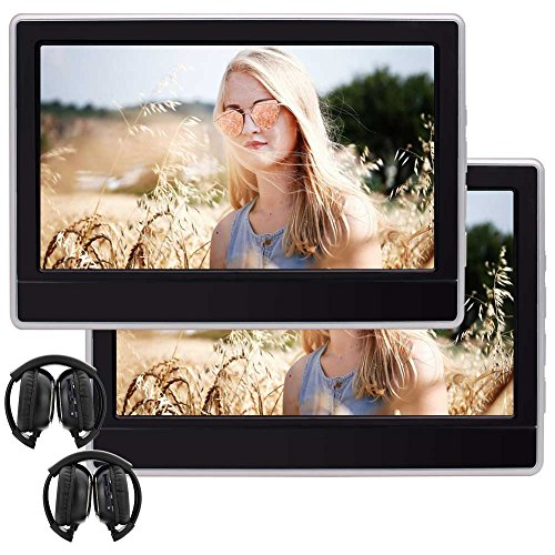 Twin Portable DVDs Player 11.6 Inch 1366768 HD Touch Screen Headrest Car DVD Player Built-in Speaker Support HDMI USB SD FM IR AV in/Output
