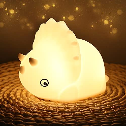 Nachtlicht Baby, LED Nachtlicht Kinder Silikon Nachtlampe mit Timer Touch Schalter Nachtleuchte USB Aufladung mit 7 Farben Nachtlichter für Babyzimmer, Schlafzimmer, Kinderzimmer