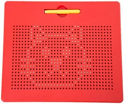 Supvox Stahlkugel magnetische Schreibtafel sketchpad Maltafeln Magnettablette Stahlkugel Schreibblock für Kinder Kinder rot Größe l
