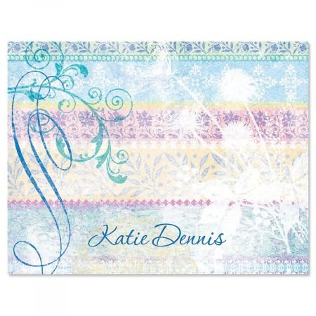 Mixed Blossoms Custom Note Cards - Set of 12 4-1/4