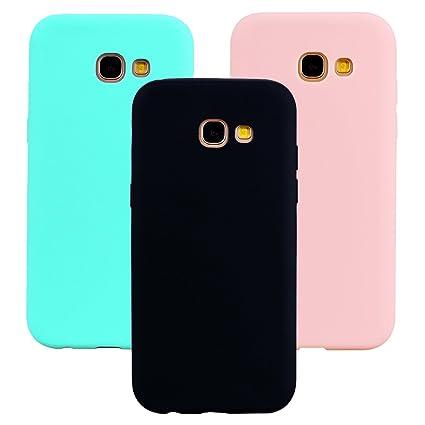 Funda Samsung Galaxy A3 2017, 3Unidades Carcasa Galaxy A3 2017 Silicona Gel, OUJD Mate Case Ultra Delgado TPU Goma Flexible Cover para Samsung A3 ...