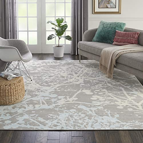 Nourison JUB12 Jubilant Abstract Grey Area Rug 7'10″ x 9'10″