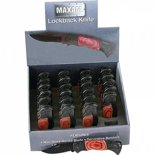 Maxam SKBKWDSP 24 Piece Lockback Knives in Countertop Display - Skbkwdsp by Maxam (Image #1)