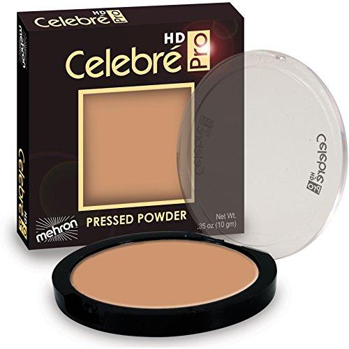 Mehron Makeup Celebre Pro-HD Pressed Powder Face & Body Makeup, MEDIUM DARK 1 - .35oz - Clay Medium Dark Powder