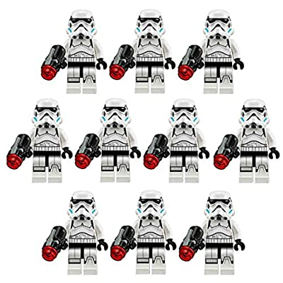 10 New Lego Star Wars Stormtrooper Minifig Lot 75078 Imperial Troop Transport: Toys & Games
