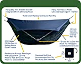Hammock Bliss Sky Tent 2 is a revolution in the making, bringing hammock camping to a new level of comfort and convenience. Sky Tent 2 allows you to stay dry from the rain, safe from the bugs and provides ample space for you and your gear. It is a pa...