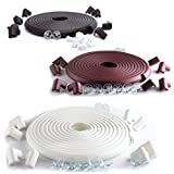 SafeBaby & Child Safety 23.2ft Long Set /16 Corner Guards baby proofing edge. Clear protective bumpers for furniture. Cushion foam strip brick pad toddlers childproof fireplace guard.Brown white black