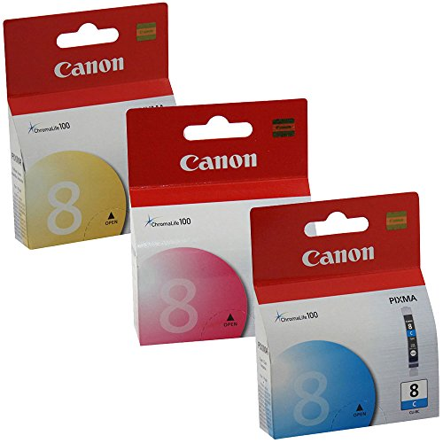 Canon 0621B002, 0622B002, 0623B002 Standard Yield Ink Cartridge Set Colors Only (C/M/Y) (Ix5000 Colour)