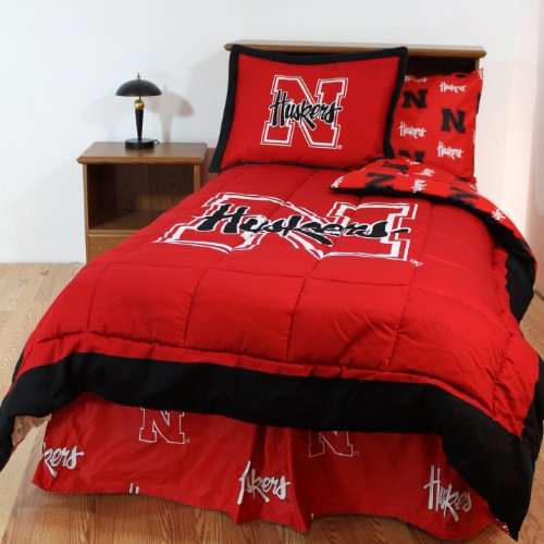 College Covers Nebraska Cornhuskers Bed in a Bag King - With Team Colored Sheets by College Covers