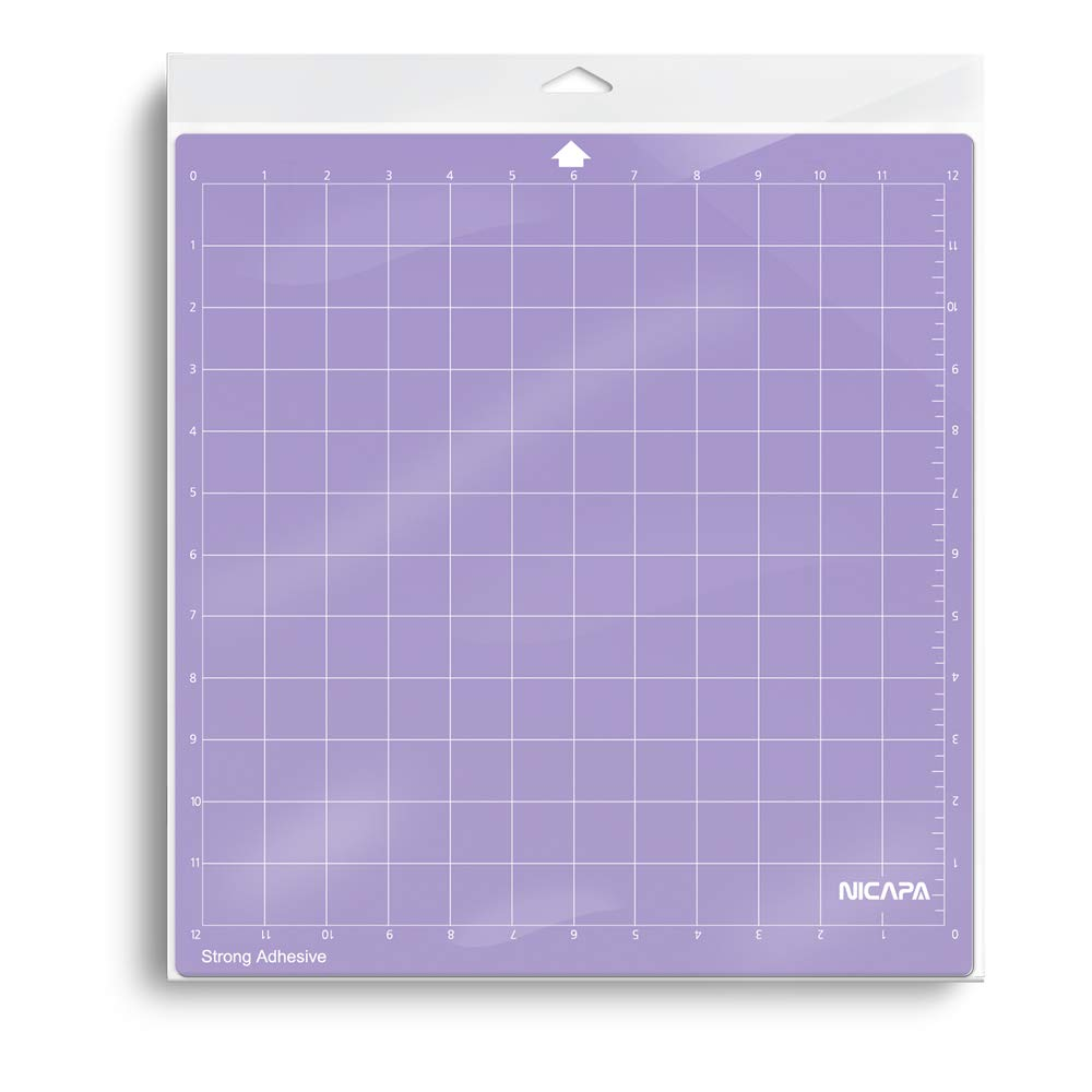 Nicapa Cutting Mat for Silhouette Cameo 3//2//1 Strong-Grip,12x12 inch 3pack Adhesive/&Sticky Non-Slip Flexible Square Gridded Purple Cut Mats Replacement Accessories Set matts Vinyl Craft Sewing