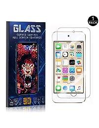 iPod Touch 5th / 6th Screen Protector, UNEXTATI® Premium HD [Anti Scratch] [Anti-Fingerprint] Tempered Glass Screen Protector Film for iPod Touch 5th / 6th (1 PACK)