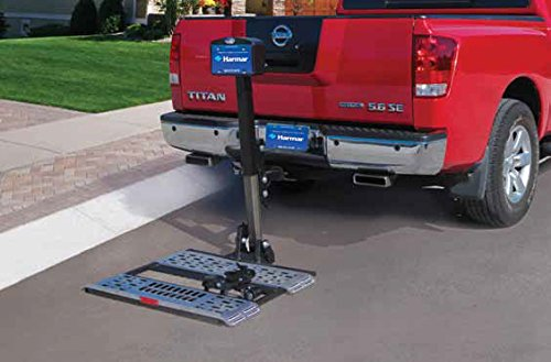 Harmar Mobility Upgraded AL570 Power Wheelchair Lift Outside Fully Automatic Carrier with II/III Hitch Adapter & Wiring Harness