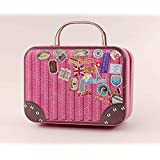 1/6 Barbie Blythe Size Red Doll Dollhouse Miniature Toy Trunk Box Suitcase Luggage Traveling Case