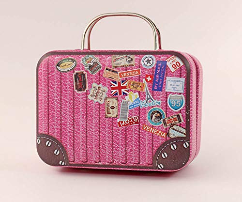 nanguawu 1:6 Pink Doll Dollhouse Miniature Toy Trunk Box Suitcase Luggage Traveling Case