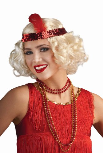 Wig Flirty Adult Flapper (Flirty Flapper Blonde Wig with)