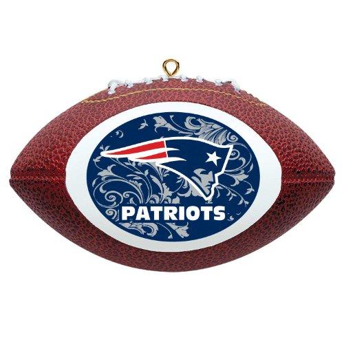 NFL New England Patriots Mini Replica Football Ornament