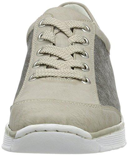 80 Ice 53720 Cordones Zapatos Derby Rieker de para Altsilber Gris Mujer Rqw8v4dxp