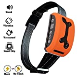 Bark Collar, 2018 Adjustable Vibration, Shock and Sensitivity Level 1-7, Rechargeable Waterproof, Smart Barking Detection for Small and Large Dog, No Bark Collar