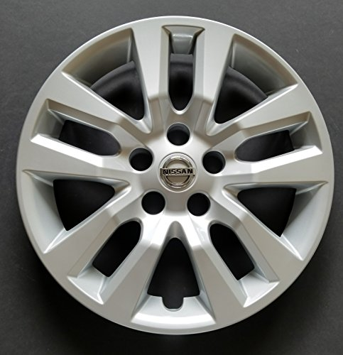 MARROW One New Replacement Fits 2013 2014 2015 2016 Nissan Altima Style 16' Wheel Cover Hubcap,10 Spoke, Silver, Plastic, Bolt On (Cover Wheel Plastic)