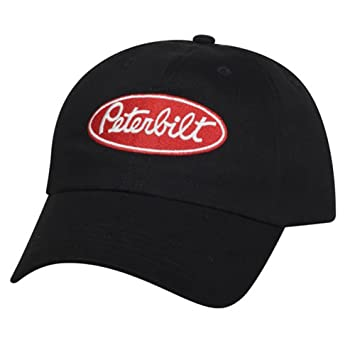 Amazon.com: Peterbilt Motors Unstructured Basic Black Cap: Sports & Outdoors
