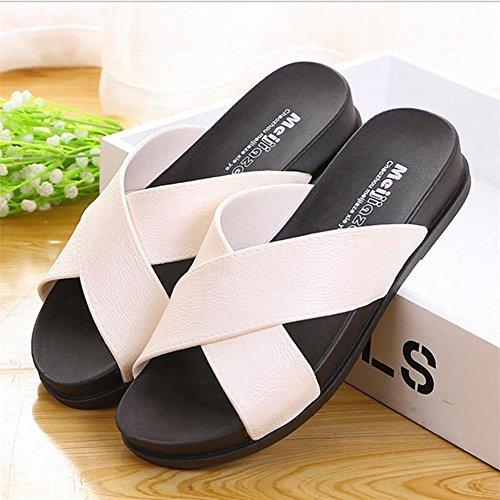 Pantofole Da Bagno Polliwoo Da Donna Sandali Da Spiaggia Kenroll Infradito Per Interni Pantofole Piatte Antiscivolo Perizoma San Valentino Bianco