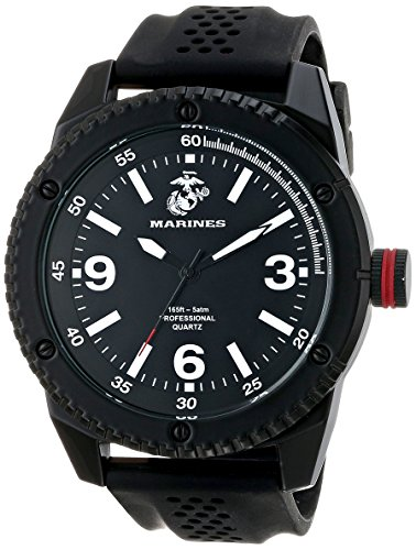 Wrist Armor Mens 37100001 U.S. Marine Corps C20 Analog Display Japanese Quartz Black Watch