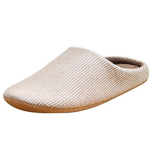 Donna Adulto Unisex Antiscivolo Slippers Jackshibo Pantofole Marrone Comodo Inverno Uomini Morbido Per zg4xwnaq