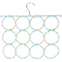 BESPORTBLE 1Pc Novelty Scarf Hanger 12-Ring Eco-Friendly Paper Rattan Towel Hanger Holder Rack
