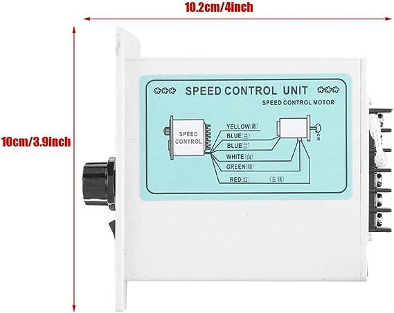 400W Adjustable Motor Speed Controller,0-1450rpm AC 220V 50Hz 15-400W Digital Adjustable Stepless Motor Speed Controller