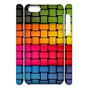 3D Jackalondon Colorful Weave IPhone 5C Cases, Elegant Case for Iphone 5c Cheap {White}