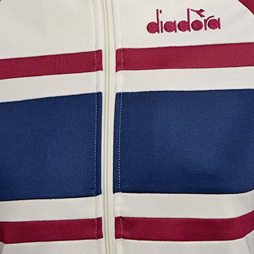 anemoma Diadora Ottico 80s nbsp;long Pantaloni Sportivi Jacket Bianco 502172684 xvaH8q