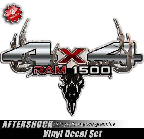 Ram 1500 Truck Camo Skull Decal Hunting Sticker (Camo Decals Truck)