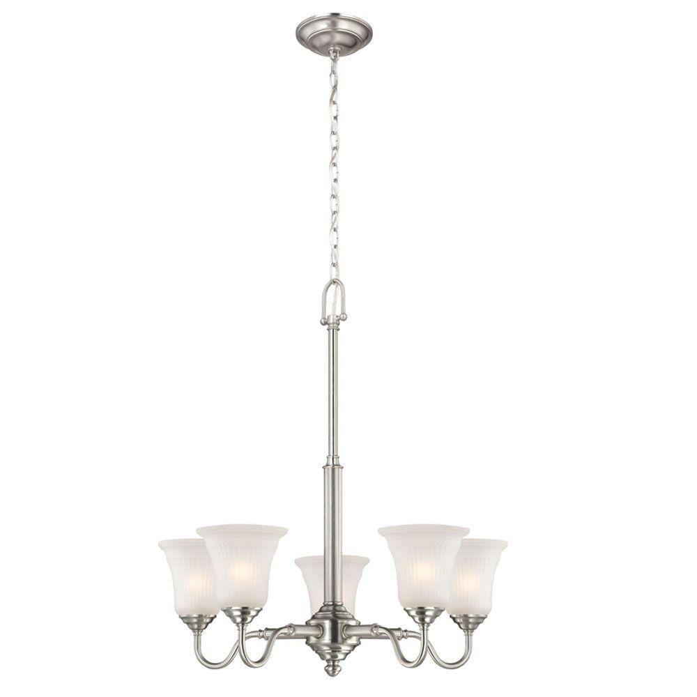 Commercial Electric 5-Light Brushed Nickel Chandelier HON8115A