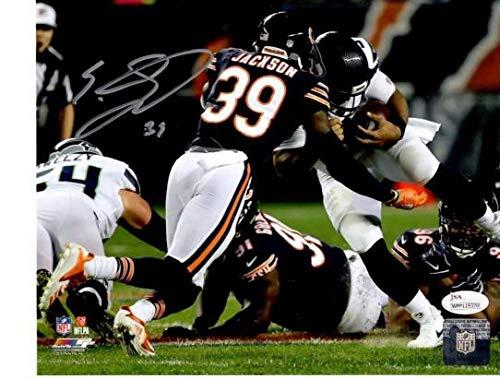 (EDDIE JACKSON CHICAGO BEARS TACKLE SIGNED AUTOGRAPHED 8X10 PHOTO JSA WPP119370)