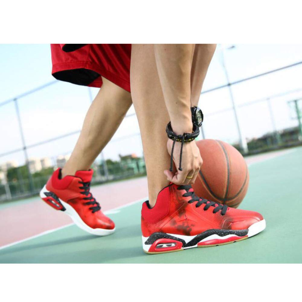 GAOY Mens Basketball Shoes Performance Shock Absorption Sneakers Non-Slip Breathable Gymnastics Boots Trainer Running Shoes